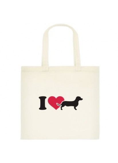 Dachshund cotton tote bag