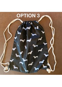 Dachshund Print Backpack