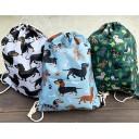 Dachshund Print Backpack