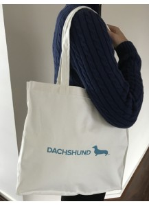 Dachshund print shopping bag