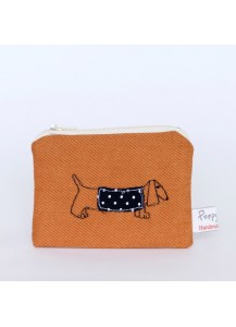 Darling Dachshund Embroidered Coin Purse