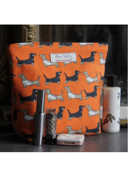 Darling Dachshund Large Makeup Bag
