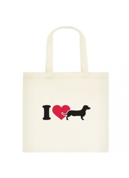 I love my Dachshund shopping bag