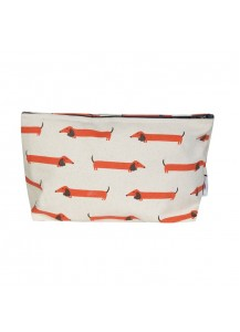 Long Dog large makeup bag