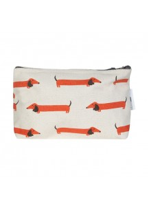 Long Dog small makeup bag