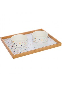 Pet Dining Tray and Bowl set