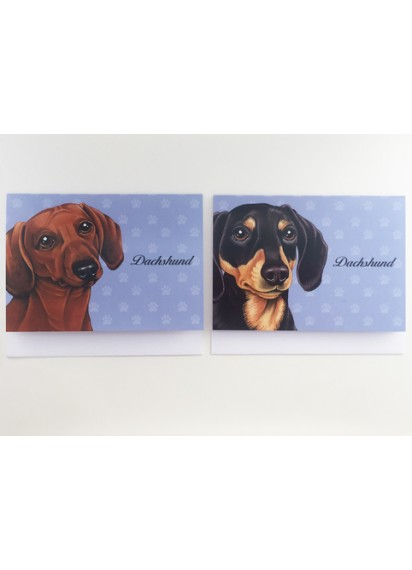 Dachshund illustrated cards