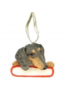 Dachshund Ornament Black & Tan