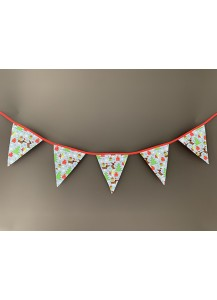 Christmas Dachshunds and trees Bunting