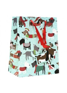 Christmas dog gift bag