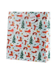 Christmas hot dog gift bag