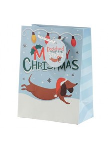 Dachshund Merry Christmas gift bag