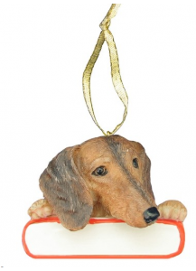 Dachshund Ornament Red