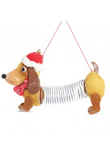 Dachshund Slinky Dog Ornament