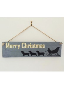 Christmas sleigh sign