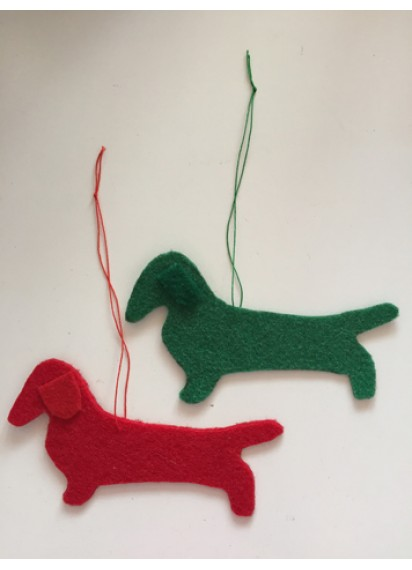 Dachshund felt decorations