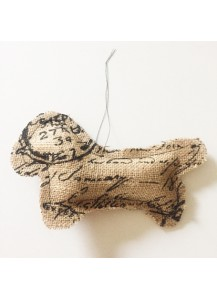Dachshund hessian decoration