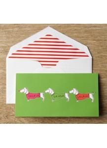 Dachshund card by Kate Spade