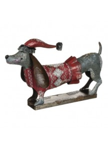 Metal Christmas dachshund