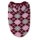 Hooded Argyle Sweater - Pink
