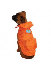 Casual Canine Dino Dog Stowaway Jacket - Orange