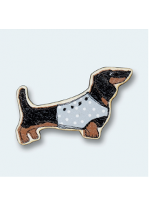 Darling Dachshund wooden magnet