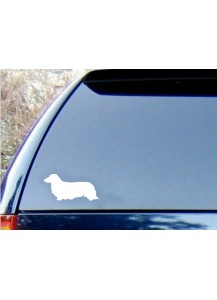 Dachshund car decal - long hair
