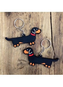 Dachshund flexible keyring