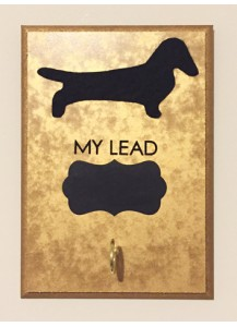 Dachshund lead holder - rectangle