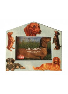 Dachshund photo frame magnet