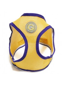 Gooby choke free step in harness - Yellow