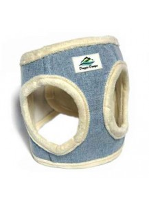 American River Ultra Choke Free Dog Harness - denim cream