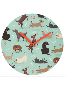 Catch Patch Dog Clock