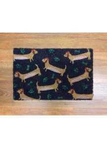 Doormat happy dachshund