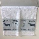 Hand towels dachshund fabric