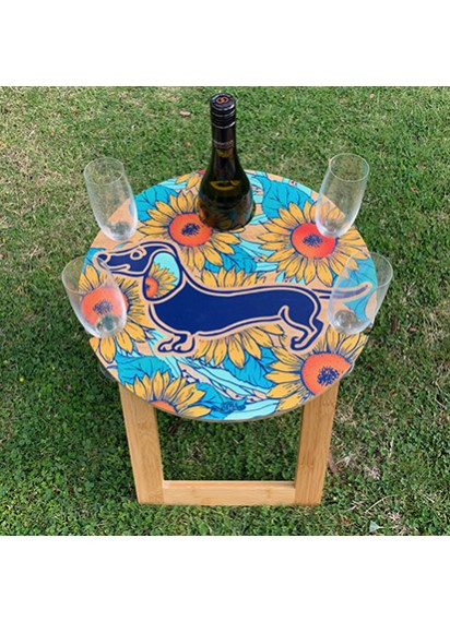 Dachshund Bamboo Picnic Table