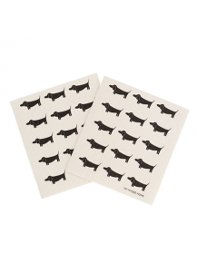 Dapper Dachshund Compostable Dish Cloths - set 2