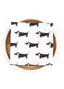 Dapper Dachshund Compostable Paper Napkins