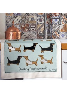 Darling Dachshund tea towels