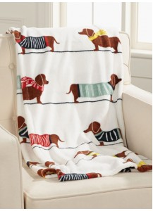 Dachshund print blanket for Dach parents