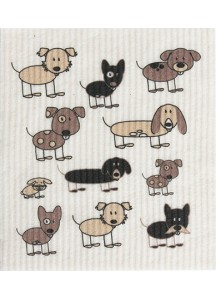 Dish cloths - dog print
