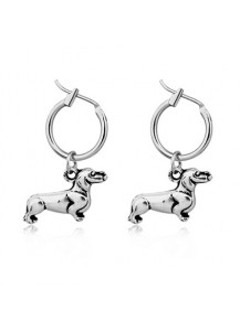 Dachshund Small Hoop Earrings