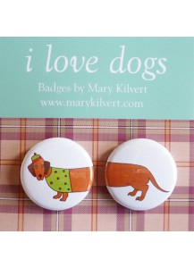 Larry Long Dog Badge set