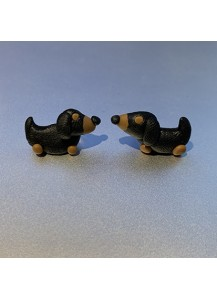 Dachshund polymer clay earrings