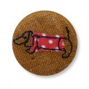 Darling Dachshund Badge