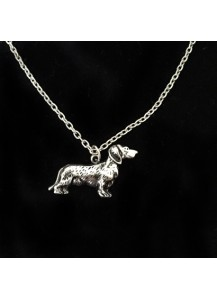 Dachshund embossed necklace
