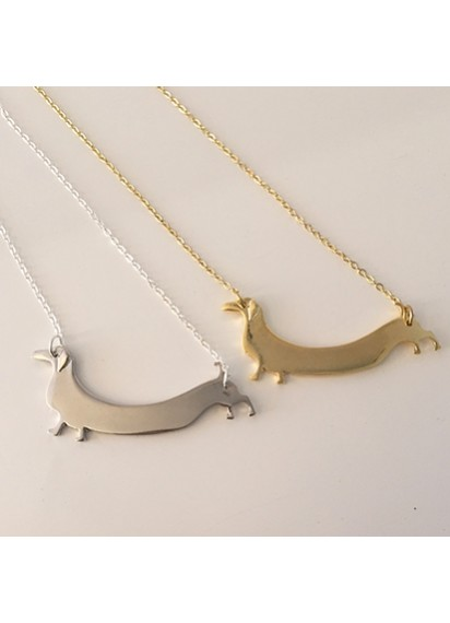Dachshund long dog necklace