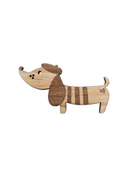 Sausage Wiener Dog Brooch