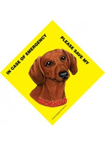 Save my Dachshund Red sign