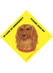 Save my Dachshund Long hair sign